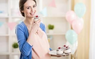 Много сладкого во время беременности