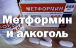 Метформин и алкоголь совместимость