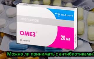 Омез и антибиотики совместимость