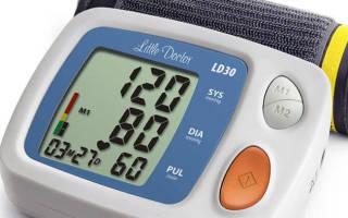 Показания артериального давления по возрастам